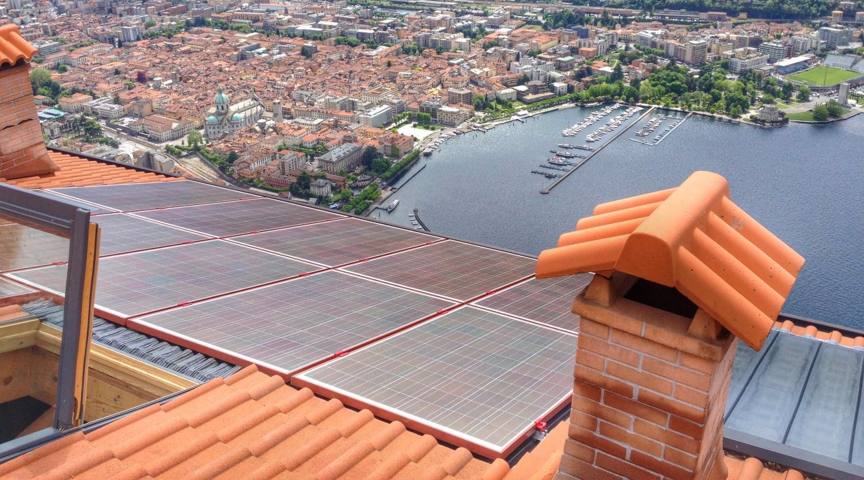 modulo fotovoltaico colorato